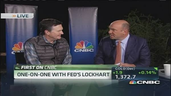 Lockhart: Relaxed as a Fed banker can be