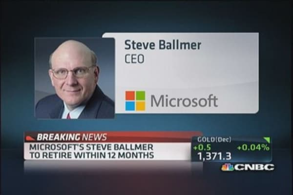 Microsoft's Ballmer to retire in 12 months
