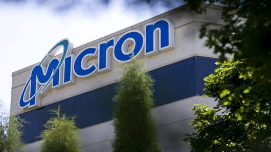 The headquarters building of Micron Technology Inc. stands in Boise, Idaho.