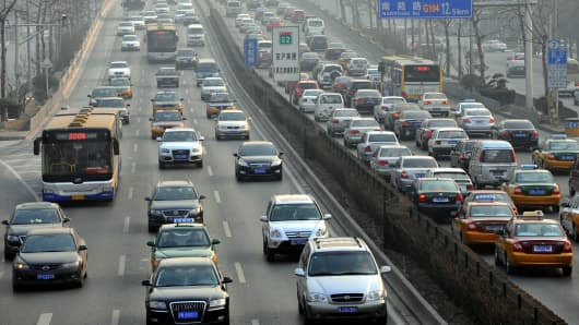 Traffic in Beijing.
