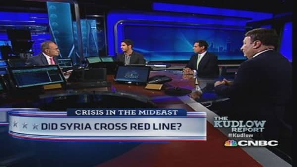 Did Syria cross red line?