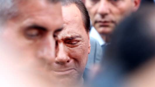 Former Italian Prime Minister Silvio Berlusconi.