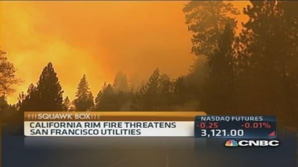 Wildfires threaten California urban areas