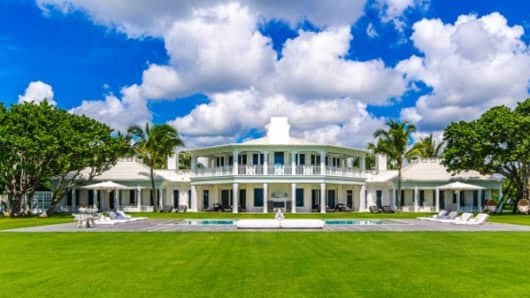 Celine Dion's mansion in Jupiter Island, Florida.