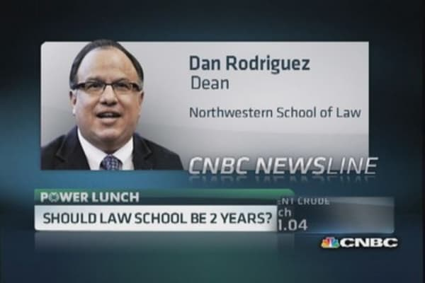 Should law school be 2 years?