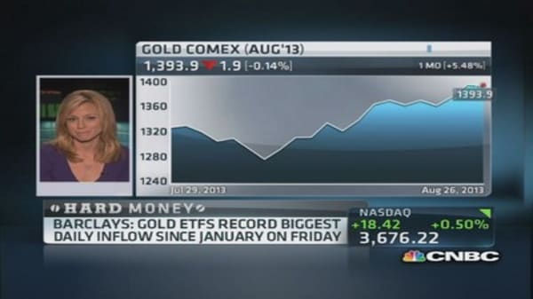 Gold briefly tops $1,400