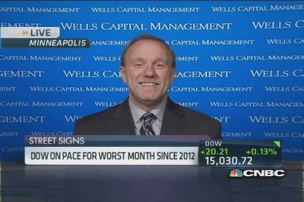 Dow on pace for worst month since 2012