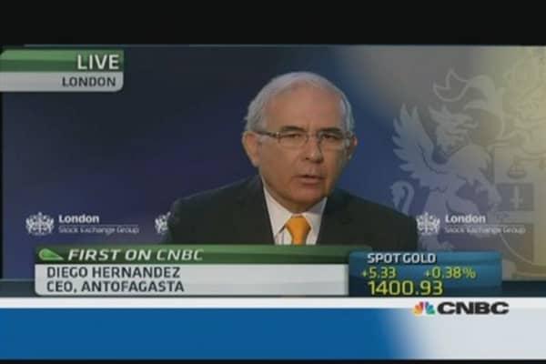 Antofagasta CEO: We are at full capacity