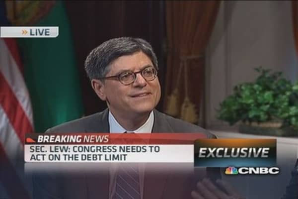 Sec. Lew: White House will not negotiate debt limit