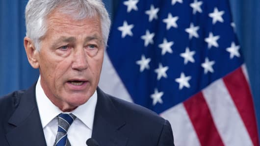 US Secretary of Defense Chuck Hagel.