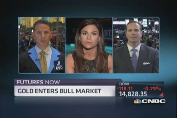 Futures Now: Gold enters bull market