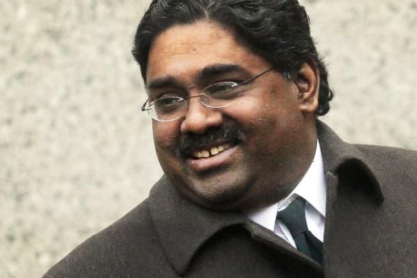 Billionaire Galleon Group hedge fund co-founder Raj Rajaratnam departs Manhattan Federal Court during his trial March 23, 2011, in New York City.