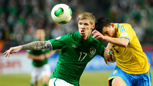 The FIFA World Cup 2014 qualifying match Sweden vs Ireland.