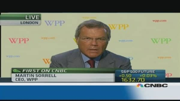 We're seeing strong growth across the board: WPP CEO