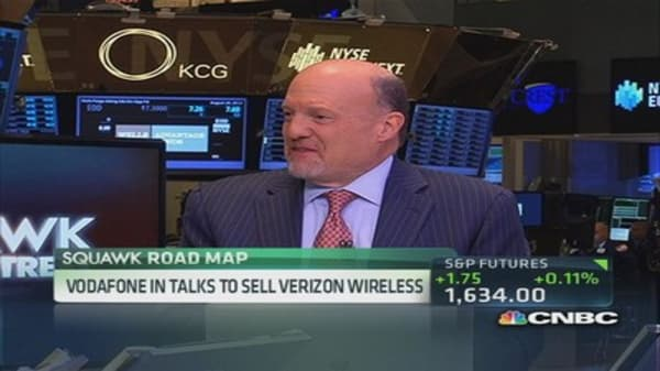 Cramer reacts to the Verizon-Vodafone talks