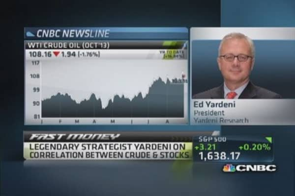 Oil to retreat, positive for stocks: Yardeni