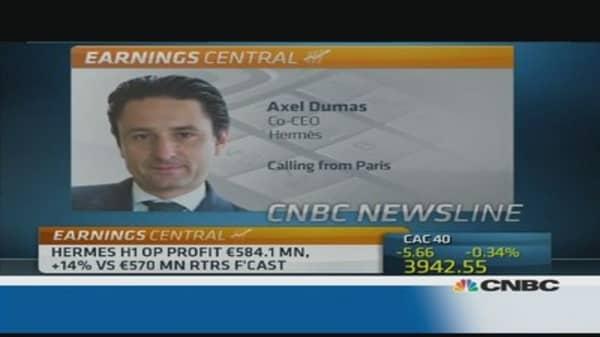Yen volatiltiy causes concern for Hermes