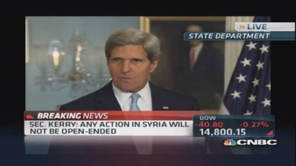 Sec. John Kerry on Syria: 'Will not repeat Iraq'
