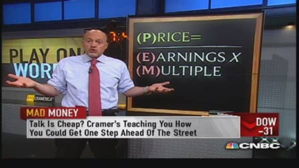 Know the price to earnings multiple: Cramer