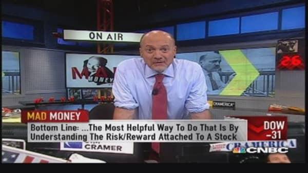 Cramer explains 'risk reward'