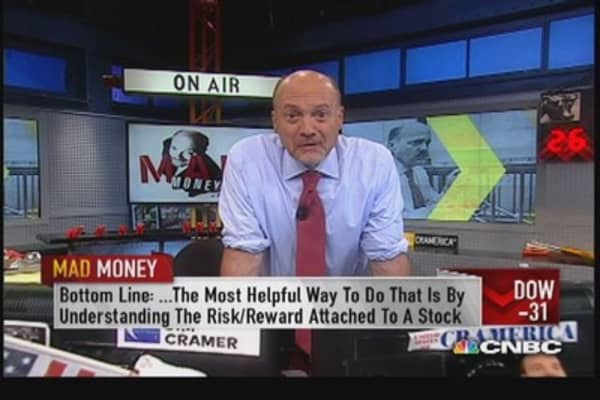 Cramer explains 'risk reward'