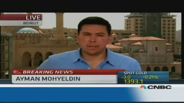 Were missiles launched towards Syria?