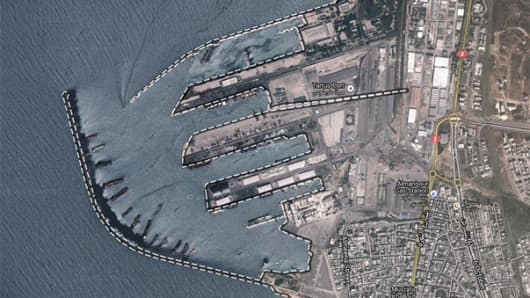 Tartus Port is the second largest port city in Syria.