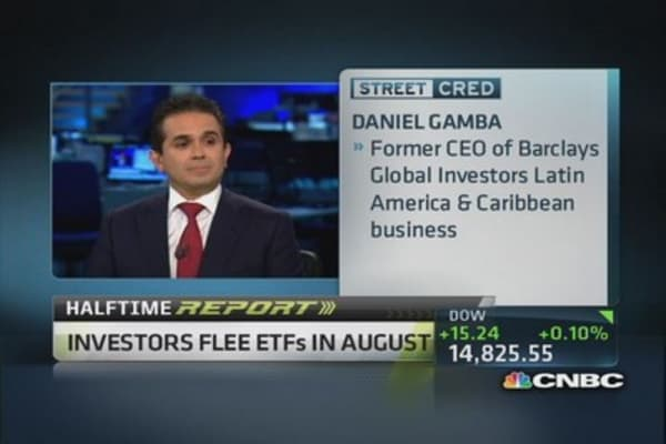 ETF outflows reach $15 billion in August