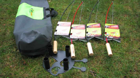 Fire Fishing Pole bag set from Firebuggz