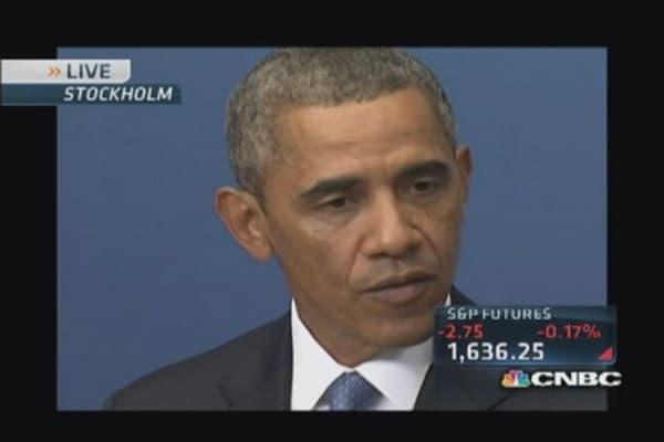 Pres. Obama in Sweden