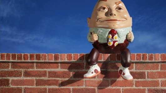 Humpty Dumpty sat on a wall ...
