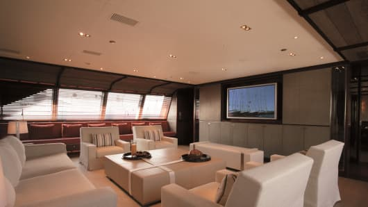 Rosehearty yacht interior