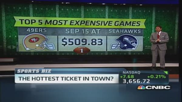 Hottest NFL tickets this season