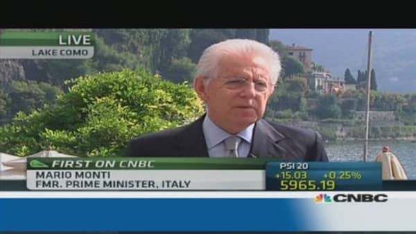 Monti: Berlusconi more responsible now than before