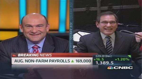 August non-farm payrolls: 169,000