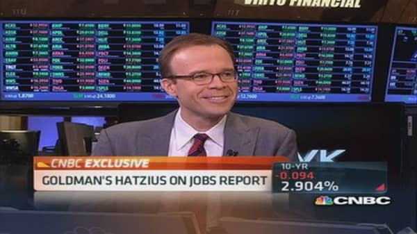 Goldman's Hatzius on jobs report
