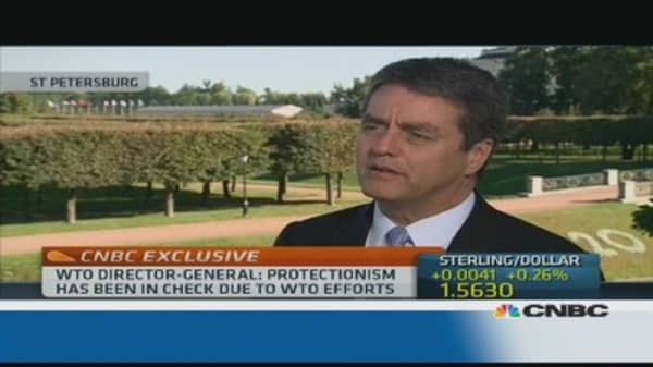 WTO boss: protectionism is increasing