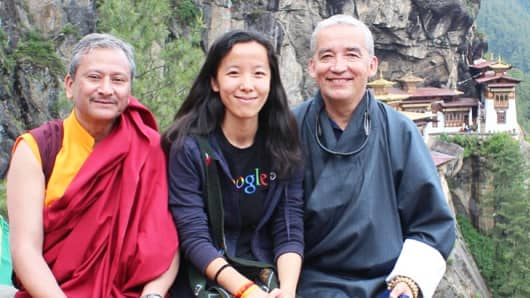 Cynthia Yeung hiked to Tiger's Nest in Bhutan in June. At 29, the millennial values international experiences.