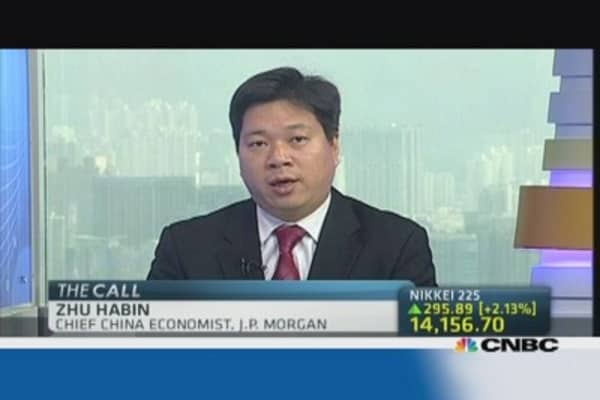 JP Morgan: Expect China 2013 GDP to hit 7.6%