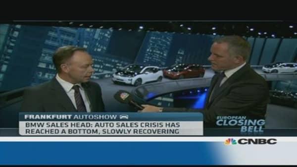 BMW: Europe car sales stabilising