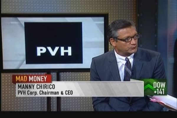 Cramer checks on retail with PVH CEO