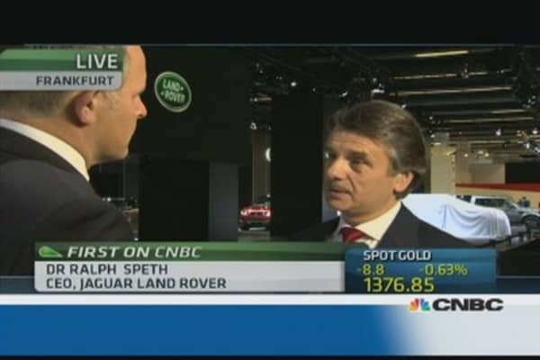 Jaguar Land Rover CEO: We see a recovery