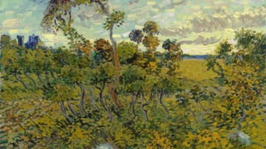 Sunset at Montmajour (1888),  by Vincent Van Gogh