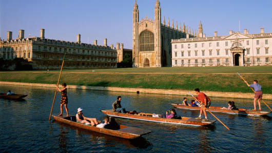 The University of Cambridge; the highest-ranked U.K. institution on the QS table.