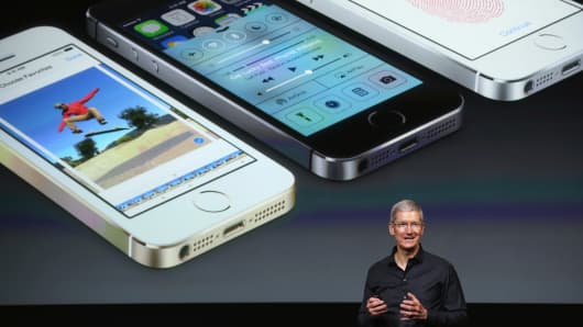 Apple CEO Tim Cook at a product presentation