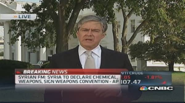 Syria to declare chemical weapons