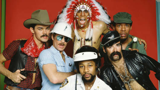 Victor Willis is bottom center in this portrait of the original members of the Village People.