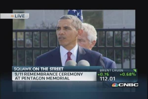 9/11 remembrance ceremony at Pentagon Memorial
