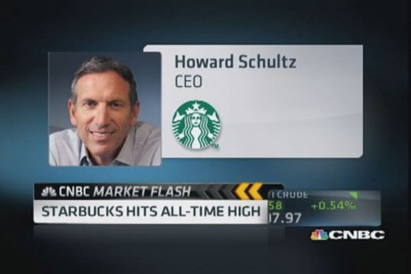 After all-time high, Starbucks still in 'sweet spot'