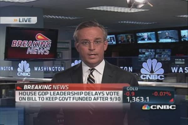 House GOP delays vote